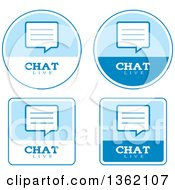 Clipart Of Blue And White Live Chat Icons Royalty Free Vector Illustration by Cory Thoman