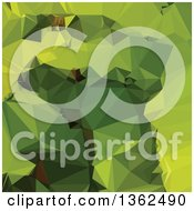 Clipart Of An Avocado Green Low Poly Abstract Geometric Background Royalty Free Vector Illustration