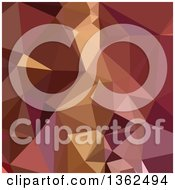Clipart Of A Heather Purple Low Poly Abstract Geometric Background Royalty Free Vector Illustration