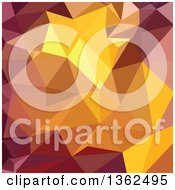 Clipart Of A Golden Poppy Yellow Low Poly Abstract Geometric Background Royalty Free Vector Illustration