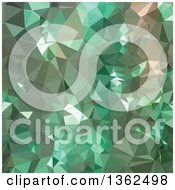Clipart Of A Caribbean Green Low Poly Abstract Geometric Background Royalty Free Vector Illustration