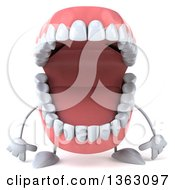 3d Open Mouth Character On A White Background