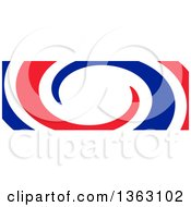 Clipart Of A Spiral French Flag Royalty Free Illustration