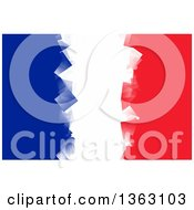 Clipart Of A Cubic French Flag Background Royalty Free Illustration