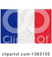 Clipart Of A Mosaic French Flag Background Royalty Free Illustration