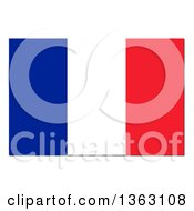 Clipart Of A French Flag With A Shadow On A White Background Royalty Free Illustration by oboy