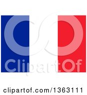 Clipart Of A French Flag Background Royalty Free Illustration