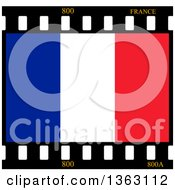 Clipart Of A French Flag Film Frame Royalty Free Illustration