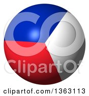 Clipart Of A 3d French Flag Sphere Royalty Free Illustration