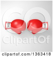 Clipart Of 3d Red Boxing Gloves On A Shaded Background Royalty Free Illustration