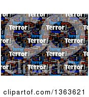 Clipart Of A Word Tag Cloud Collage Of The Words Paris France Terror On Black Background Royalty Free Illustration