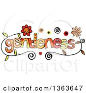Clipart Of Colorful Sketched Gentleness Word Art Royalty Free Vector Illustration