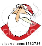 Clipart Of A Stoned Christmas Santa Claus Smoking A Joint Royalty Free Vector Illustration by djart