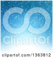 Clipart Of A Blue Snowflake Winter Or Christmas Background Royalty Free Vector Illustration