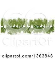 Green Fir Tree Christmas Garland With White Icons