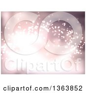 Clipart Of A Christmas Background Of Sparkly Lights Royalty Free Vector Illustration