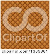 Clipart Of A Seamless Background Of Tan Leather Upholstery Royalty Free Vector Illustration