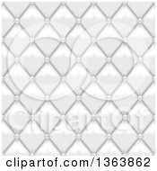 Clipart Of A Seamless Background Of White Leather Upholstery Royalty Free Vector Illustration