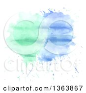 Poster, Art Print Of Watercolor Paint Splatter Background