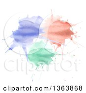 Clipart Of A Watercolor Paint Splatter Background Royalty Free Vector Illustration