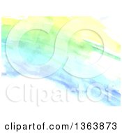 Clipart Of A Watercolor Paint Background Royalty Free Vector Illustration