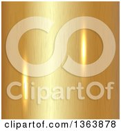 Clipart Of A Background Of Reflective Lights On Brushed Gold Royalty Free Vector Illustration