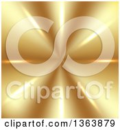 Clipart Of A Background Of Reflective Lights On Gold Royalty Free Vector Illustration