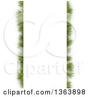 Christmas Background Of Fir Branches Under A Paper Panel