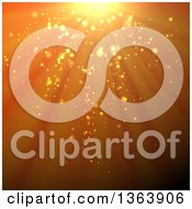 Clipart Of A Background Of Shining Lights Royalty Free Vector Illustration