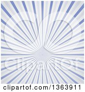 Clipart Of A Background Of A Burst Of Vintage Blue Rays Royalty Free Vector Illustration