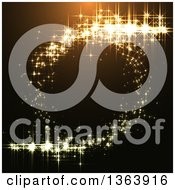 Clipart Of A Background Of Sparkly Lights Making A Circle Royalty Free Vector Illustration