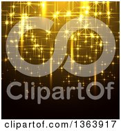 Background Of Gold Sparkly Lights Or Fireworks