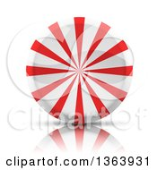 Clipart Of A 3d Round Peppermint Candy Royalty Free Vector Illustration