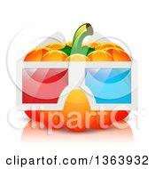 Pumpkin Wearing 3d Glasses
