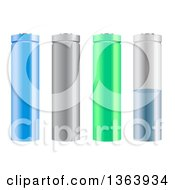 Clipart Of 3d Lithium Icon Batteries Royalty Free Vector Illustration