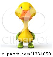 Clipart Of A 3d Yellow Gardener Duck On A White Background Royalty Free Illustration by Julos