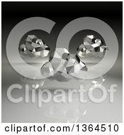Clipart Of 3d Silver Geometric Computing Clouds Over Gradient Royalty Free Illustration