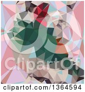 Clipart Of A Charm Pink Low Poly Abstract Geometric Background Royalty Free Vector Illustration