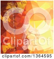 Clipart Of A Deep Saffron Orange Low Poly Abstract Geometric Background Royalty Free Vector Illustration