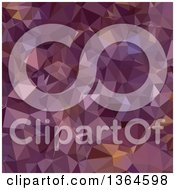 Clipart Of An Antique Fuchsia Purple Low Poly Abstract Geometric Background Royalty Free Vector Illustration