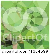 Clipart Of A Dollar Bill Green Low Poly Abstract Geometric Background Royalty Free Vector Illustration