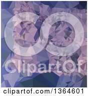Clipart Of A Cool Grey Blue Purple Low Poly Abstract Geometric Background Royalty Free Vector Illustration