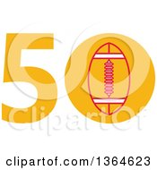 Clipart Of A Super Bowl 50 Sports Design With A Football In The Zero Royalty Free Vector Illustration