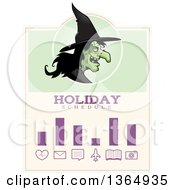 Clipart Of A Halloween Ugly Warty Witch Holiday Schedule Design Royalty Free Vector Illustration