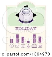Clipart Of A Purple Halloween Vampire Holiday Schedule Design Royalty Free Vector Illustration