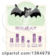 Clipart Of A Halloween Vampire Bat Holiday Schedule Design Royalty Free Vector Illustration