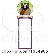 Clipart Of A Halloween Werewolf Bookmark Royalty Free Vector Illustration by Cory Thoman