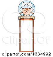 Clipart Of A Happy Thanksgiving Pilgrim Girl Bookmark Royalty Free Vector Illustration