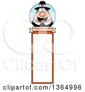 Clipart Of A Chubby Thanksgiving Pilgrim Man Bookmark Royalty Free Vector Illustration