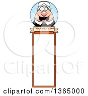 Clipart Of A Chubby Thanksgiving Pilgrim Woman Bookmark Royalty Free Vector Illustration